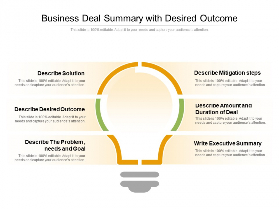 Business_Deal_Summary_With_Desired_Outcome_Ppt_PowerPoint_Presentation_Gallery_Example_Topics_PDF_Slide_1