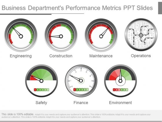 Business Departments Performance Metrics Ppt Slides