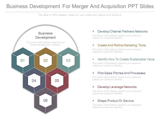 Business Development For Merger And Acquisition Ppt Slides