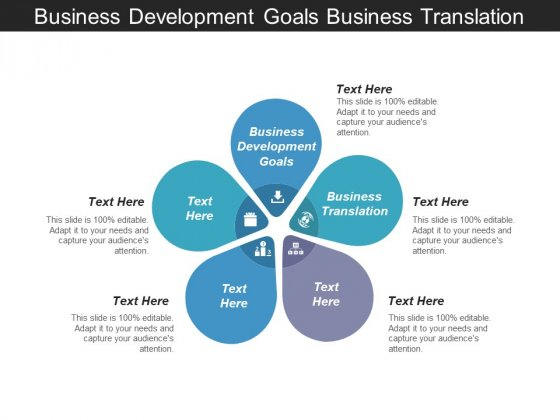 Business Development Goals Business Translation Ppt PowerPoint Presentation File Skills