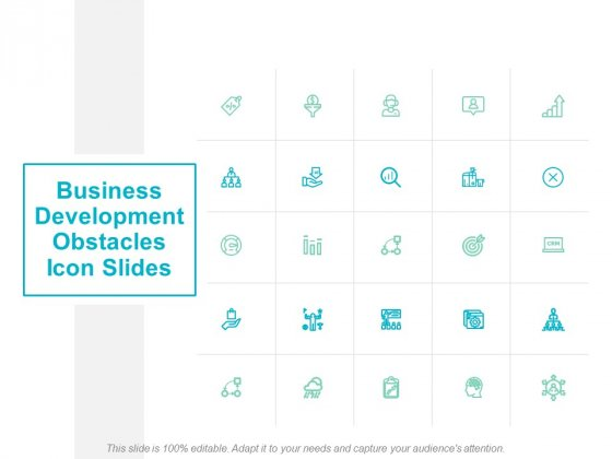 Business Development Obstacles Icon Slides Ppt PowerPoint Presentation Layouts Slide Portrait