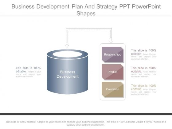 Business Development Plan And Strategy Ppt Powerpoint Shapes