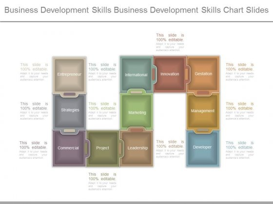 Business Development Skills Business Development Skills Chart Slides