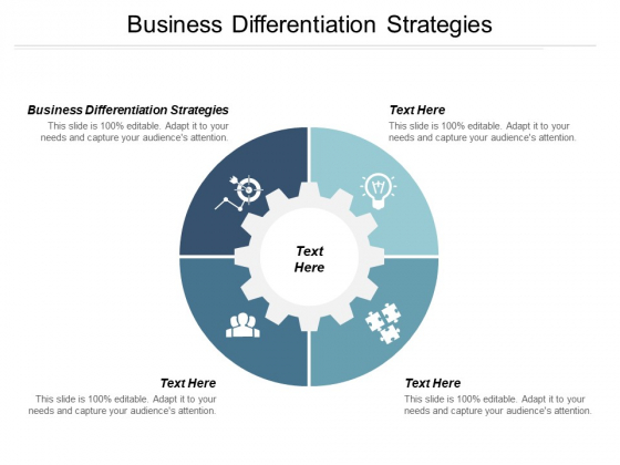 Business Differentiation Strategies Ppt PowerPoint Presentation Slides Graphics Pictures
