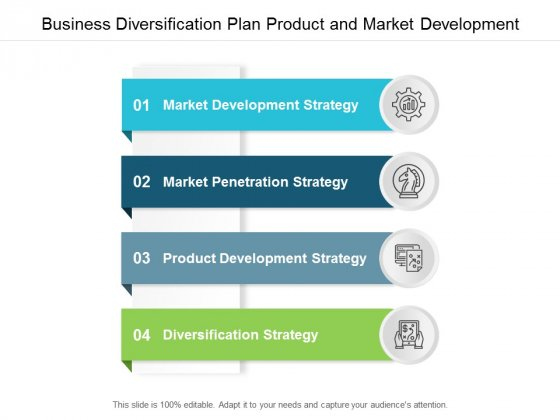 Business Diversification Plan Product And Market Development Ppt Powerpoint Presentation Gallery Example Topics