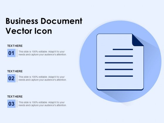 Business Document Vector Icon Ppt PowerPoint Presentation Portfolio Example PDF