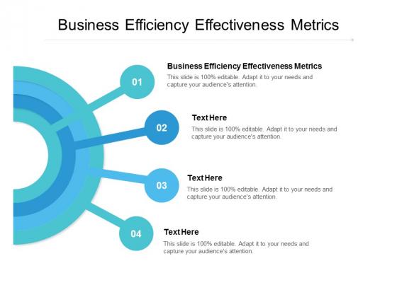 Business Efficiency Effectiveness Metrics Ppt PowerPoint Presentation Icon Master Slide Cpb