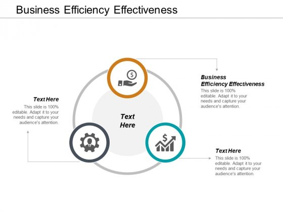 Business Efficiency Effectiveness Ppt PowerPoint Presentation Icon Display Cpb