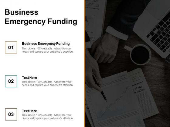 Business Emergency Funding Ppt PowerPoint Presentation Model Slide Cpb