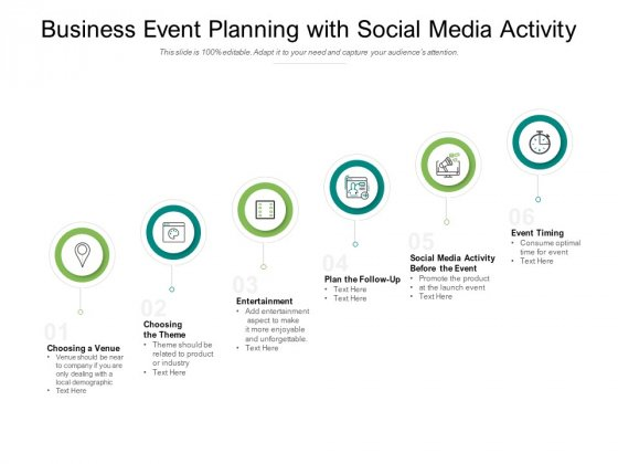 Business Event Planning With Social Media Activity Ppt PowerPoint Presentation Styles Shapes