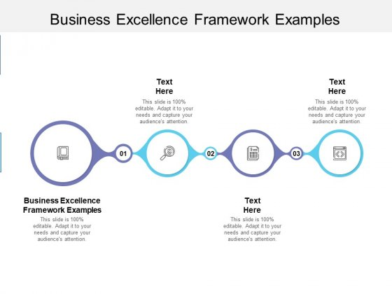 Business Excellence Framework Examples Ppt PowerPoint Presentation Professional Shapes Cpb