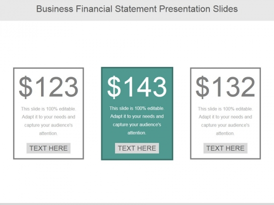Business Financial Statement Ppt PowerPoint Presentation Professional