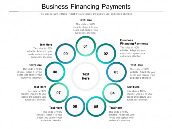 Business Financing Payments Ppt PowerPoint Presentation Ideas Guide Cpb Pdf