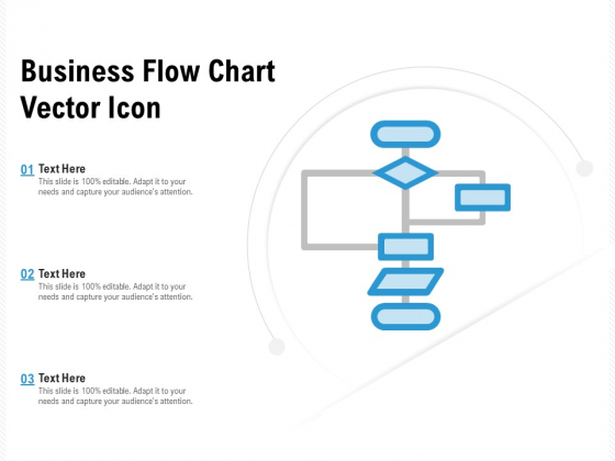 Business Flow Chart Vector Icon Ppt PowerPoint Presentation Gallery Format Ideas