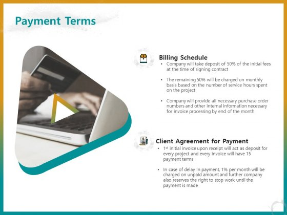 Business For ID Printing Payment Terms Ppt Show Layout PDF