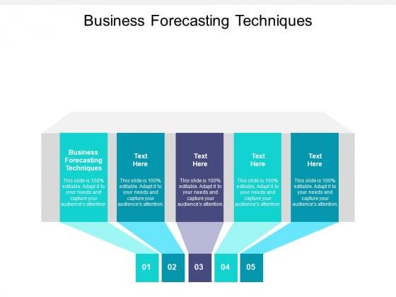 Business Forecasting Techniques Ppt PowerPoint Presentation Portfolio Guide Cpb Pdf