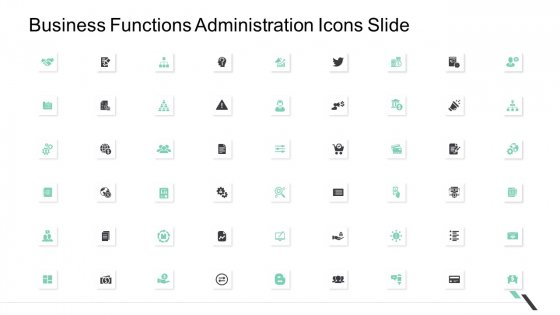 Business Functions Administration Icons Slide Ppt Professional Ideas PDF