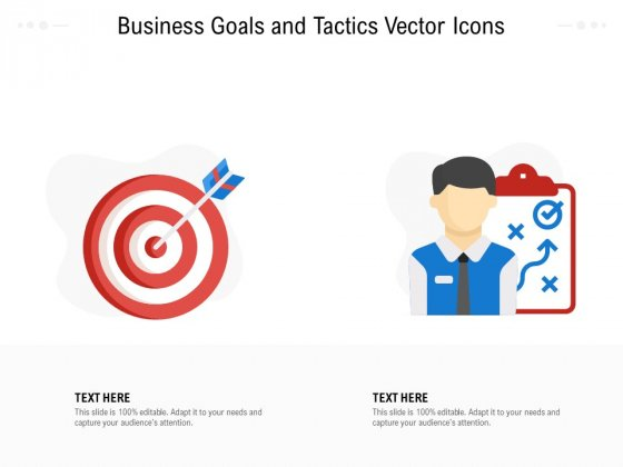 Business Goals And Tactics Vector Icons Ppt PowerPoint Presentation File Ideas PDF