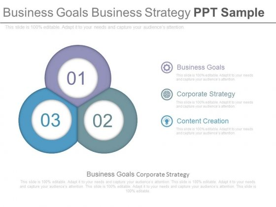 Business Goals Business Strategy Ppt Sample