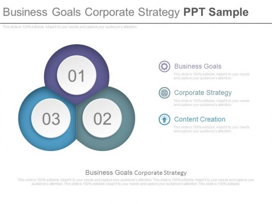 Business Goals Corporate Strategy Ppt Sample