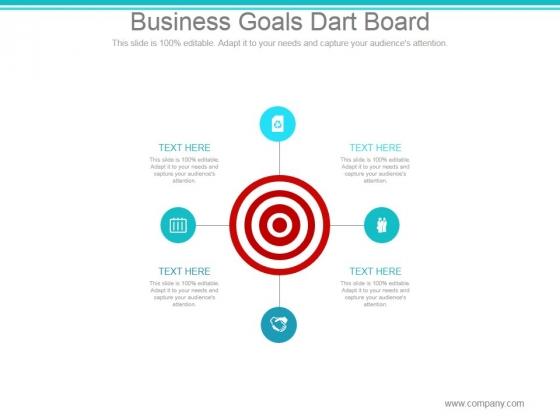 Business Goals Dart Board Ppt PowerPoint Presentation Summary