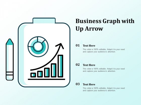 Business Graph With Up Arrow Ppt PowerPoint Presentation Gallery Information