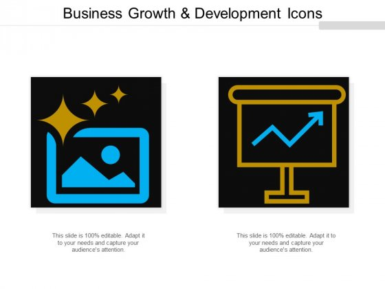 Business Growth And Development Icons Ppt Powerpoint Presentation Icon Sample