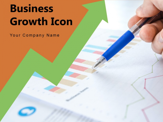 Business Growth Icon Progress Circle Arrow Ppt PowerPoint Presentation Complete Deck