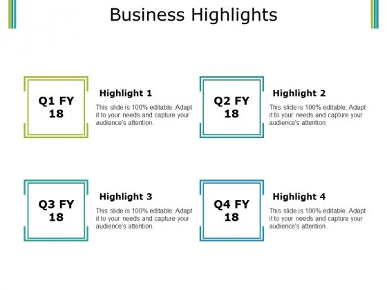 Business Highlights Ppt PowerPoint Presentation Pictures Example