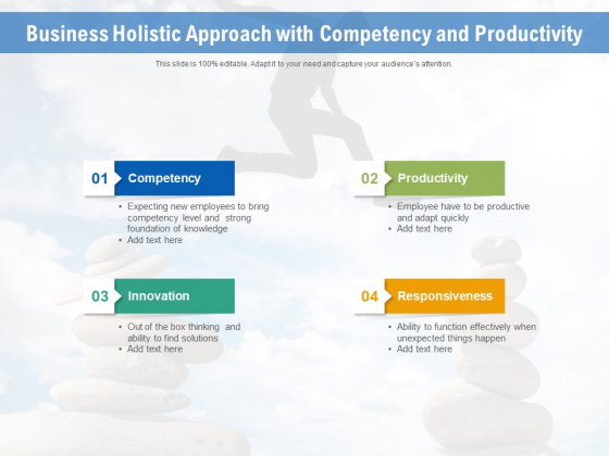 Business Holistic Approach With Competency And Productivity Ppt PowerPoint Presentation File Graphic Images PDF