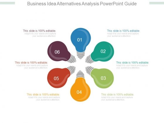 Business Idea Alternatives Analysis Powerpoint Guide