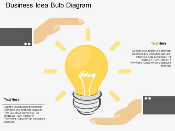 Business Idea Bulb Diagram Powerpoint Template