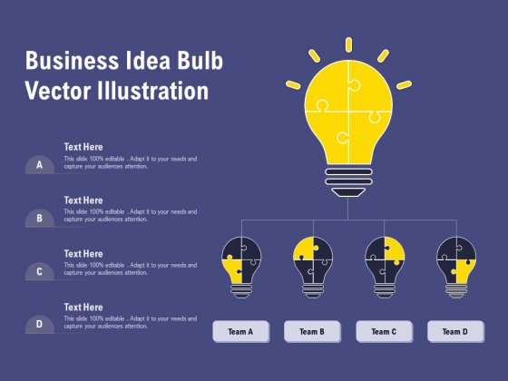 Business Idea Bulb Vector Illustration Ppt PowerPoint Presentation Gallery Themes