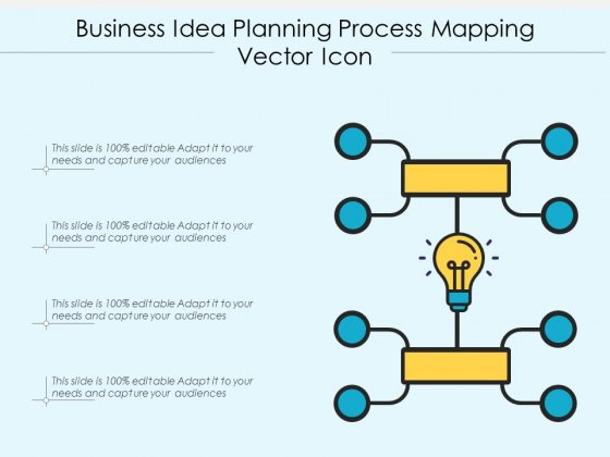 Business Idea Planning Process Mapping Vector Icon Ppt PowerPoint Presentation Ideas Icons PDF