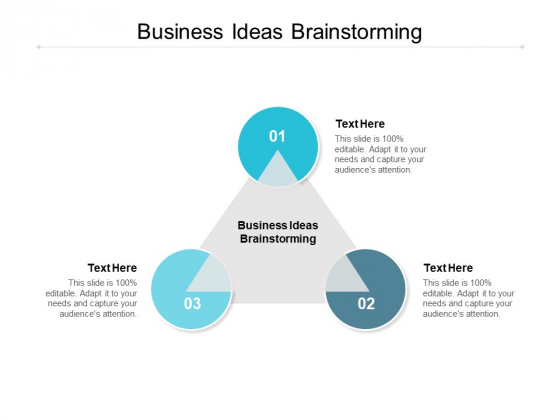 Business Ideas Brainstorming Ppt PowerPoint Presentation Icon Background Images Cpb