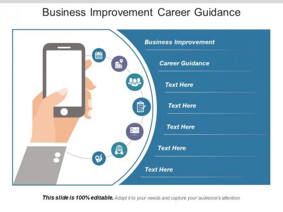 Business Improvement Career Guidance Ppt PowerPoint Presentation Show Maker