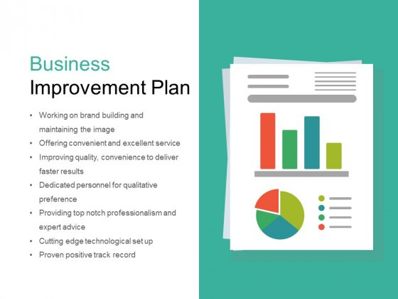 Business Improvement Plan Ppt PowerPoint Presentation Slides Ideas