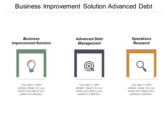 Business Improvement Solution Advanced Debt Management Operations Research Ppt PowerPoint Presentation Professional Topics
