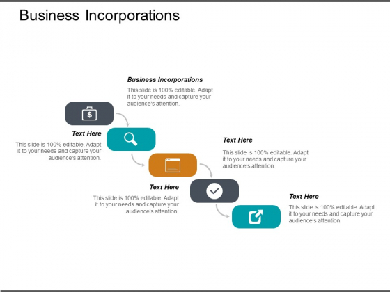 Business Incorporations Ppt PowerPoint Presentation Ideas Guidelines Cpb