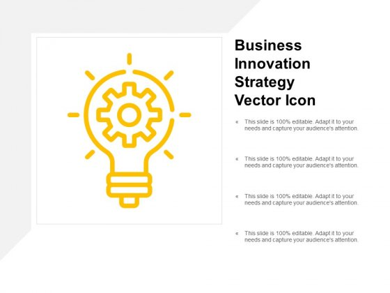Business Innovation Strategy Vector Icon Ppt PowerPoint Presentation Pictures Example