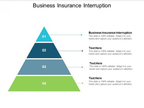 Business Insurance Interruption Ppt PowerPoint Presentation Styles Ideas Cpb