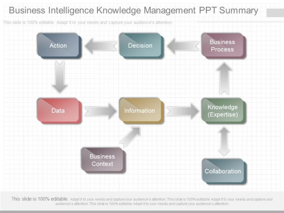 Business Intelligence Knowledge Management Ppt Summary