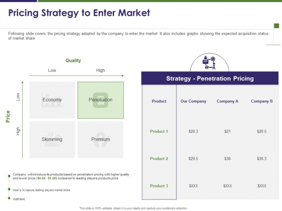 Business Intelligence Report Pricing Strategy To Enter Market Ppt Professional Deck PDF
