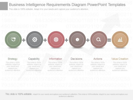 business intelligence requirements diagram powerpoint templates, Modern powerpoint