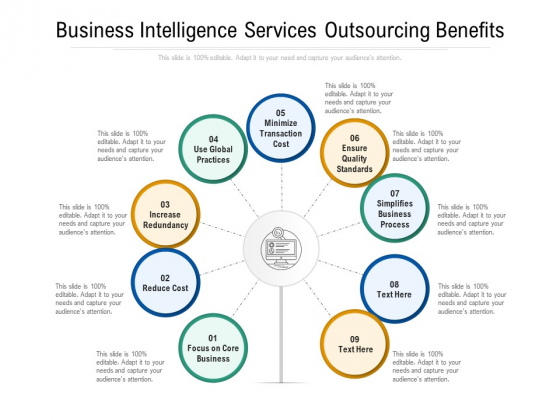Business Intelligence Services Outsourcing Benefits Ppt PowerPoint Presentation Gallery Gridlines PDF