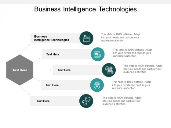 Business Intelligence Technologies Ppt PowerPoint Presentation Inspiration Outfit Cpb