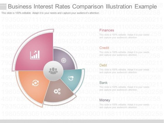 Business Interest Rates Comparison Illustration Example