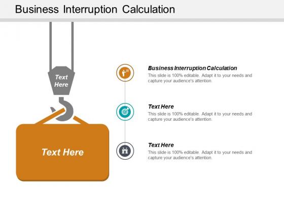 Business Interruption Calculation Ppt PowerPoint Presentation Portfolio Aids Cpb