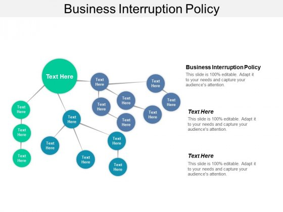 Business Interruption Policy Ppt PowerPoint Presentation Summary Structure