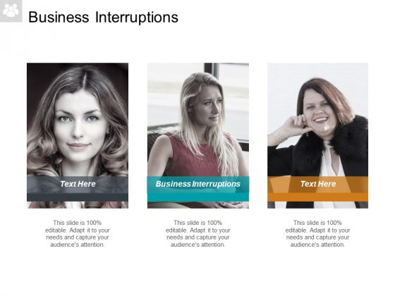 Business Interruptions Ppt PowerPoint Presentation File Design Ideas Cpb
